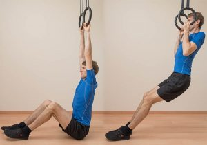 To make chin-ups easier, let your feet rest on the ground