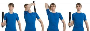 Upper body training with clubbells is a great cardio choice for knee pain
