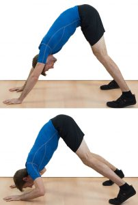 The pike push-up is another knee-friendly fitness exercise.