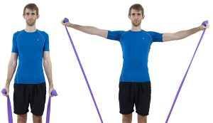 Lateral Raises with a resistance band